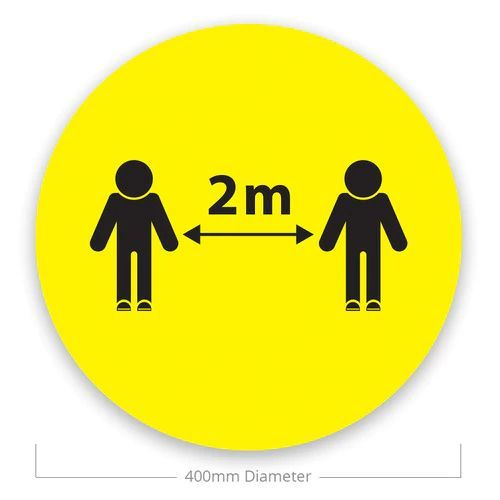 Social Distance Floor Stickers - 2m (Pack of 10)