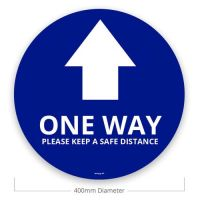 Social Distance Floor Stickers - One Way (Pack of 10)