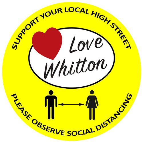 Social Distance Floor Stickers - Custom Print Design (Pack of 50)