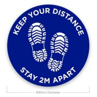 Social Distance Floor Stickers - Keep Your Distance (Pack of 10)
