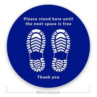 Social Distance Floor Stickers - Please Stand Here (Pack of 10)