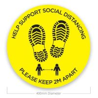 Social Distance Floor Stickers - Support Social Distance (Pack of 10)